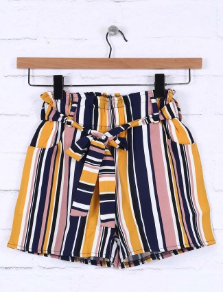 Nodoubt mustard yellow cotton casual shorts