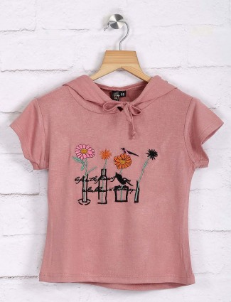 Nodoubt peach cotton casual wear top