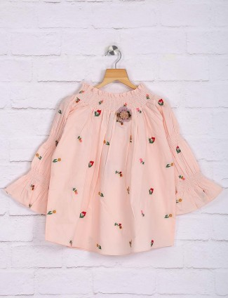 Nodoubt peach cotton designer top