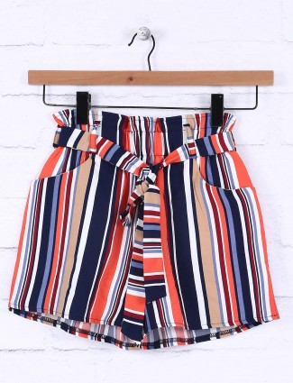 Nodoubt peach cotton shorts for girls