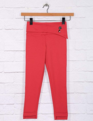 Nodoubt red cotton casual jeggings
