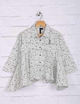 Nodoubt white printed casual top
