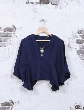 Nofear navy cotton casual wear top