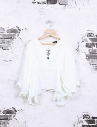 Nofear white cotton casual top