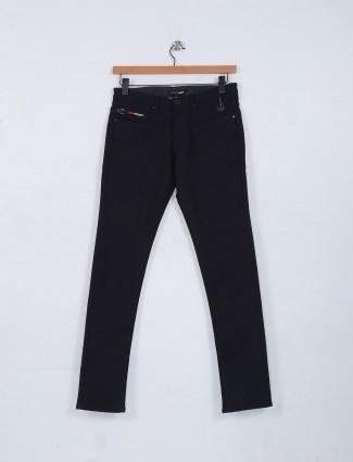 Nostrum black plain pattern jeans