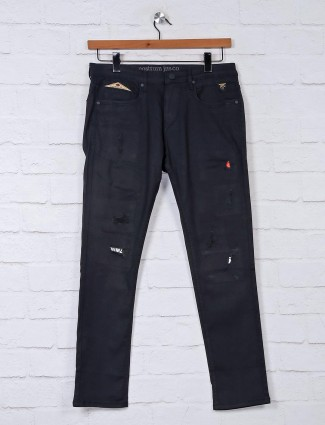 Nostrum black solid jeans