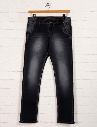 Nostrum black washed slim fit jeans