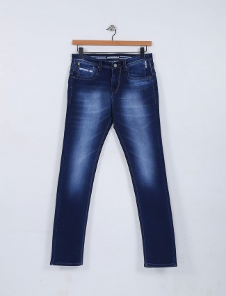 Nostrum navy hue solid jeans