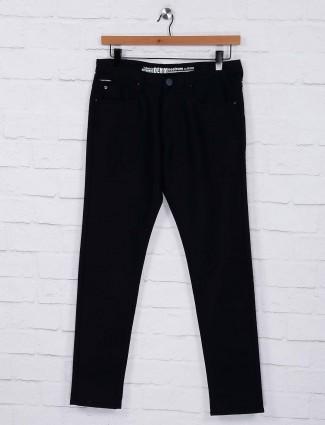 Nostrum simple navy hued cotton fabric trouser