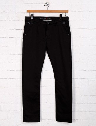 Nostrum slim fit solid black jeans