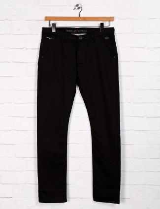 Nostrum slim fit solid black jeans