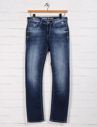 Nostrum washed casual blue jeans