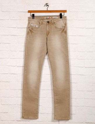 Nostrum washed khaki slim fit jeans