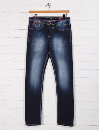 Nostrum washed navy mens jeans