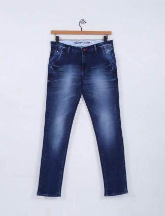 Nostrum washed royal blue jeans