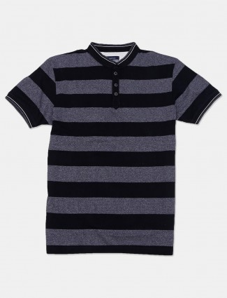 Octave black and grey stripe t-shirt