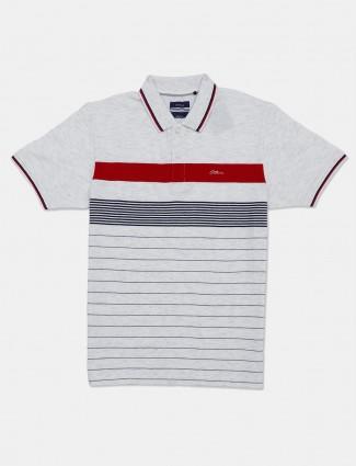 Octave grey stripe mens t-shirt