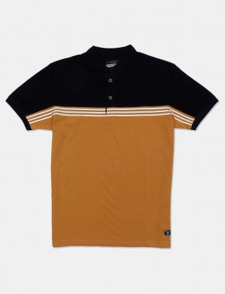 Octave mustard yellow polo t-shirt