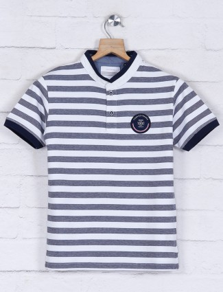 Octave navy and white stripe t-shirt