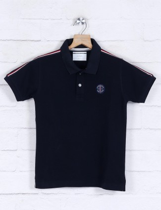 Octave navy solid boys t-shirt