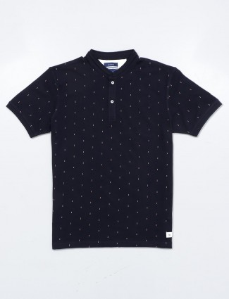 Octave presented navy printed t-shirt