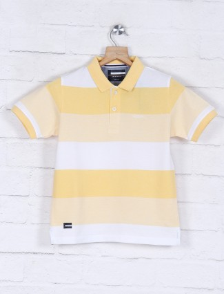 Octave stripe yellow cotton t-shirt