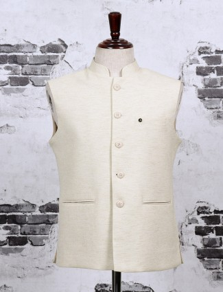 Off white waistcoat for party