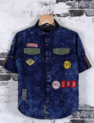 OKIDS blue denim shirt