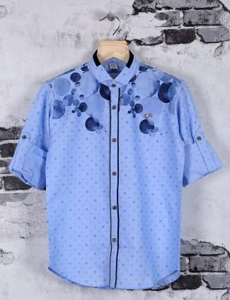 OKIDS casual wear printed cotton shirt