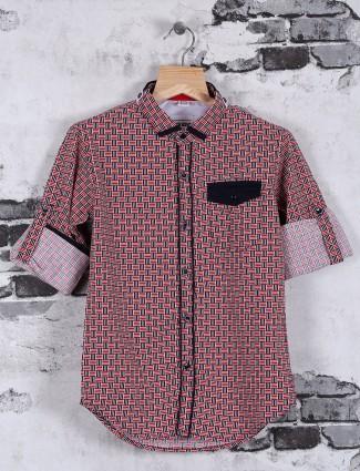 OKIDs pink printed shirt