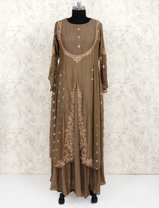 Olive hue designer salwar suit