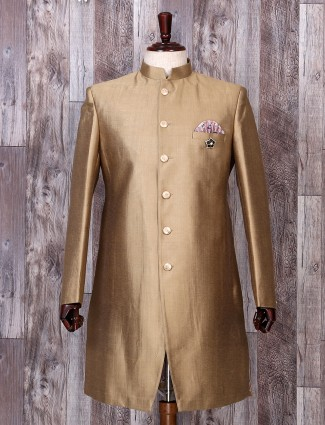 Gold solid festive function indo western