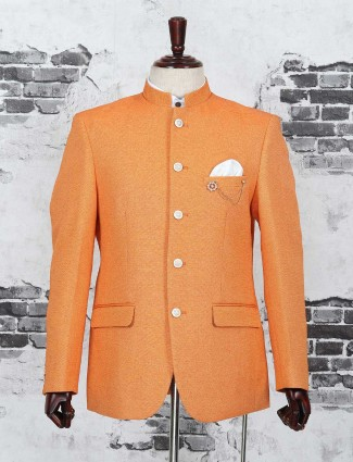 Orange color jodhpuri blazer