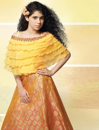 Orange hue beautiful lehenga choli