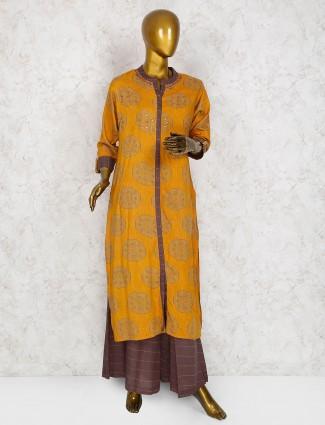 Orange hue cotton punjabi salwar suit