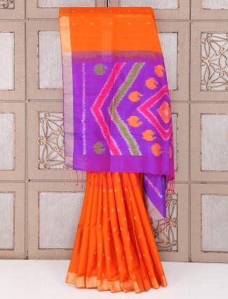 Orange saree for wedding function