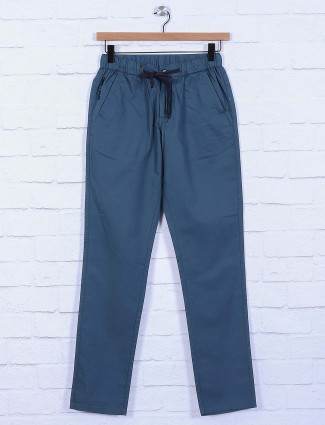 Origin blue solid pattern track pant