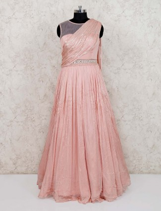 Paech georgette party wear gown