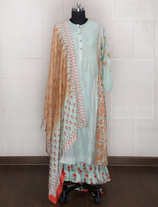 Palazzo suit in sky blue color