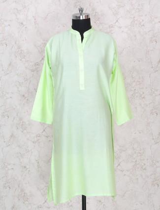 Parrot green color punjabi palazzo suit