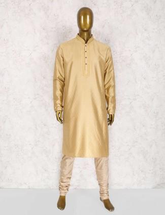Party beige color kurta suit