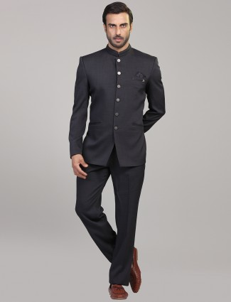 Party function grey jodhpuri suit