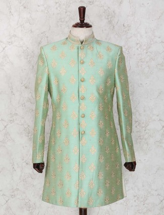 Party light green indo western