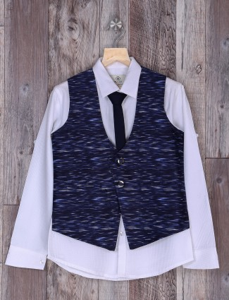party wear blue hue wedding waistcoat