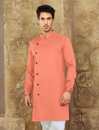 Party wear coral peach short pathani