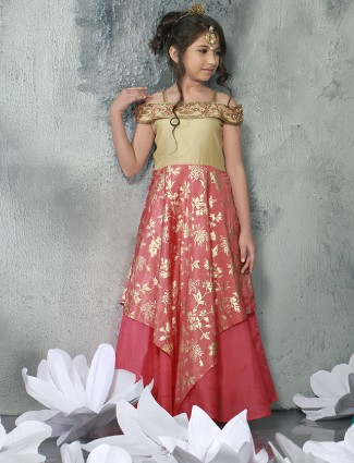 Party wear pink designer gown