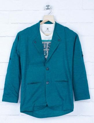 Party wear rama green hue blazer