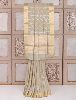 Party wear saree in beige color