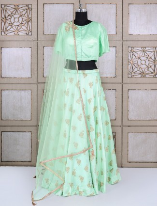 Pastel green lehenga choli
