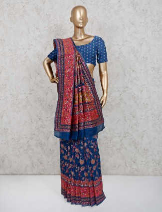 Patola silk wedding wear saree in blue